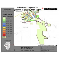 M011-Beardstown, Latino Population Percentages, by Census Blocks, Census 2010