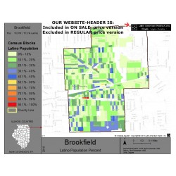 M011-Brookfield, Latino Population Percentages, by Census Blocks, Census 2010