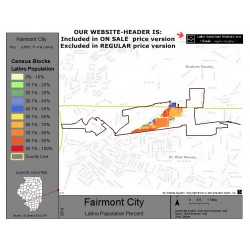 M011-Fairmont City, Latino Population Percentages, by Census Blocks, Census 2010