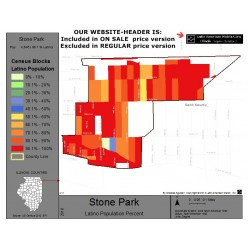 M011-Stone Park, Latino Population Percentages, by Census Blocks, Census 2010