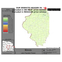 M32-Illinois, Latino Population Percentages, by Census Blocks, Census 2010