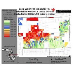 M62-NEW CITY, Latino Population Percentages, by Census Blocks, Census 2010