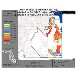 M81-Ward 10, Latino Population Percentages, by Census Blocks, Census 2010
