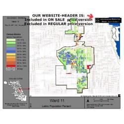 M81-Ward 11, Latino Population Percentages, by Census Blocks, Census 2010