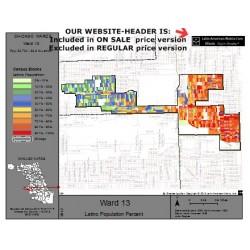M81-Ward 13, Latino Population Percentages, by Census Blocks, Census 2010