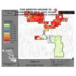 M81-Ward 15, Latino Population Percentages, by Census Blocks, Census 2010