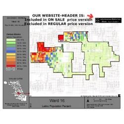 M81-Ward 16, Latino Population Percentages, by Census Blocks, Census 2010