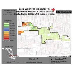 M81-Ward 17, Latino Population Percentages, by Census Blocks, Census 2010
