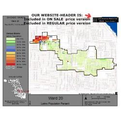 M81-Ward 20, Latino Population Percentages, by Census Blocks, Census 2010
