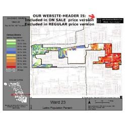 M81-Ward 23, Latino Population Percentages, by Census Blocks, Census 2010