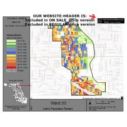 M81-Ward 33, Latino Population Percentages, by Census Blocks, Census 2010