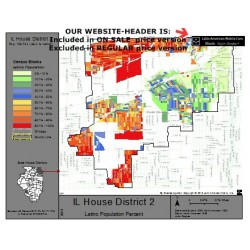 M42-IL House District 2, Latino Population Percentages, by Census Blocks, Census 2010