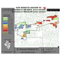 M42-IL House District 21, Latino Population Percentages, by Census Blocks, Census 2010
