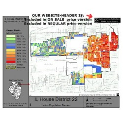 M42-IL House District 22, Latino Population Percentages, by Census Blocks, Census 2010