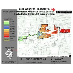 M42-IL House District 24, Latino Population Percentages, by Census Blocks, Census 2010