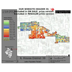 M42-IL House District 39, Latino Population Percentages, by Census Blocks, Census 2010