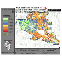 M42-IL House District 40, Latino Population Percentages, by Census Blocks, Census 2010