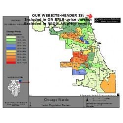 M82A-Chicago Wards, Latino Population Percentages, Census 2010