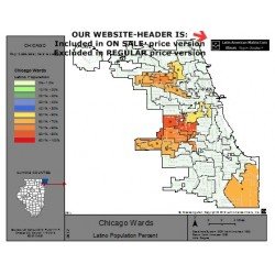 M82L-Chicago Latino Wards, Latino Population Percentages, by Ward, Census 2010