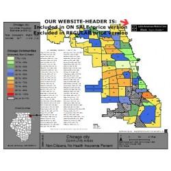 M68-Chicago Communities, Non-Citizen Uninsured Population Percentages, by Community Area, ACS 2008-2012 PDF file
