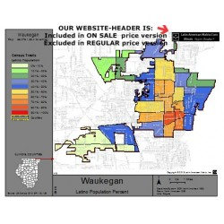M14-Waukegan, Latino Population Percentages, by Census Tracts, Census 2010